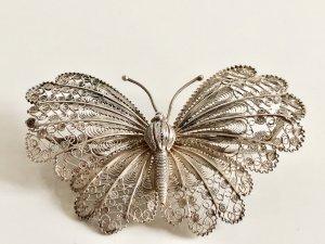 Antik Jugendstil 925 Silber XXL Sterling Brosche Schmetterling Anstecknadel Pin Silberbrosche