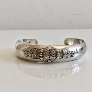 Antik Jugendstil 925 Sterling Silber Armband Armreif Handarbeit