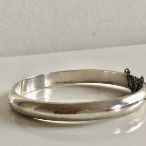 Antik Jugendstil 925 Sterling Silber Armreif Armband Klapparmreif