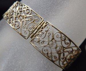 antik Jugendstil Art Deco Armband 835 Silber Antikschmuck Gliederarmband echtsilber
