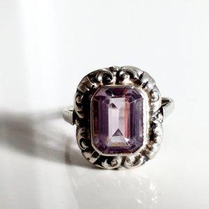 Antik Jugendstil Art Déco Damen Ring 800 Silber Amethyst Trachten Schmuck silver jewel