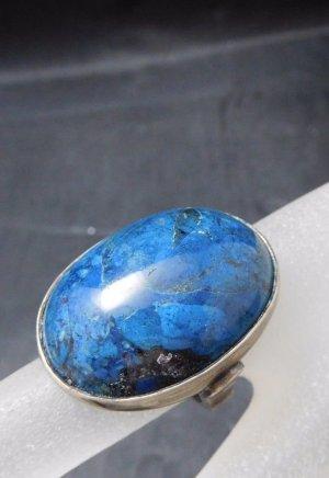 Antik Jugendstil Art Deco Lapislazuli Ring 800 Silber blau Lapis, der magische blaue Stein der Könige echtsilber Edelstein  Statement
