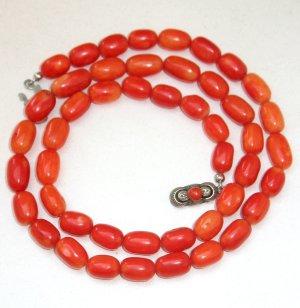 Antik Jugendstil Korallenkette Koralle collier Kette Halskette Rarität