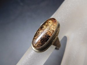 Antik Jugendstil Ring 925 Sterling Silber Goldfluss Art Deco Echtsilber gold Fluss