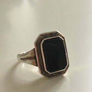 Vintage Silver Ring black-silver-colored real silver