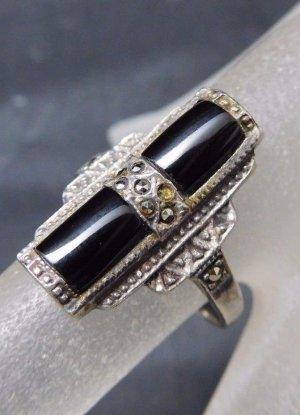 Vintage Zilveren ring zilver-zwart Zilver