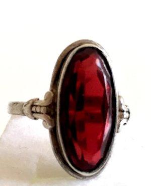 Antik Jugendstil Ring Silber 800er silber rubin roter Stein edel Silberring