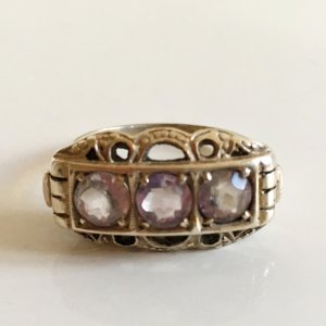 Antik Jugendstil Ring Silber 835 art deco Silberring