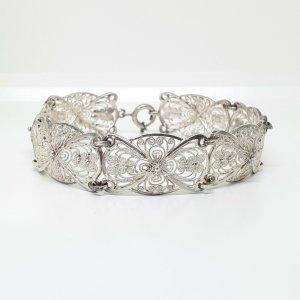 Antik Jugendstil Silber Armband 800 filigran art nouveau silver bracelet handmade.