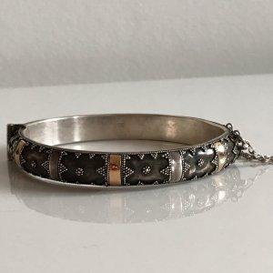 Antik Jugendstil Silber Armband Klapparmreif Armreif 925 Silber gold