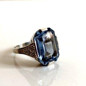 Antik Jugendstil Silber Ring 830 Silberring