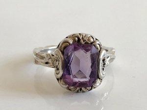 Antik Jugendstil Silber Ring Silberring amethyst