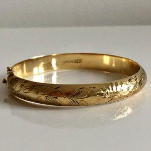Antik Jugendstil Silberarmband 800 Silber vg  Gold Juwelierarbeit Klapparmreif Armreif Handarbeit Blumen Ornamente