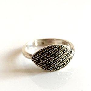 Antik Markasit Silberring 925er Sterling Silber Vintage Edelstein Ring