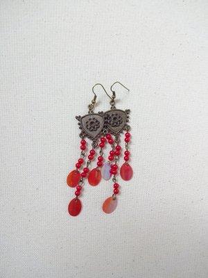 antik Ohrringe pailletten perlen