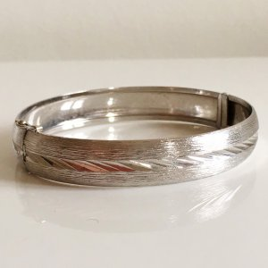 Vintage Bangle silver-colored real silver