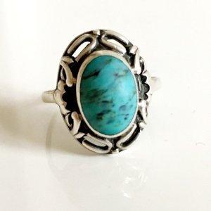 Antik Silberring Türkis 800er Silber Edelstein Ring