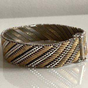 ❤️ Antik Sterling 925 Echtsilber Luxus Armband Bicolor silber gold Juwelierarbeit schwer Silberarmband