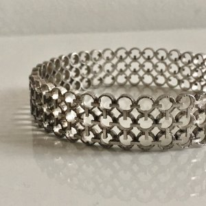 American Vintage Bangle silver-colored real silver