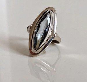 Antik Topas Blautopas Silberring 835 Silber Meisterpunze Art Deco Ring Aqua blau Schiffchenring