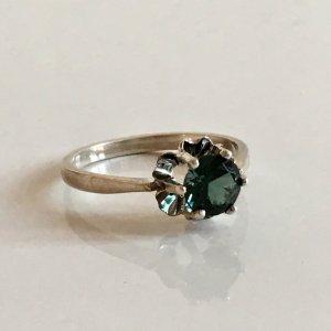 Antik Turmalin  Solitär Kronenring 925 silber Ring Juwelierstück  Meisterpunze