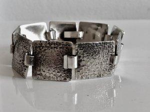 Antik um 1930/40 Relief  830 Silber Armband Gliederarmband Handarbeit Meisterpunze