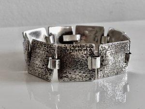 Antik um 1930/40 Relief 830 Silber MASSIV Armband Gliederarmband Handarbeit Meisterpunze