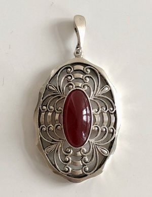 Vintage Pendant multicolored real silver