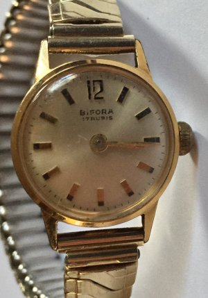 Self-Winding Watch gold-colored real gold