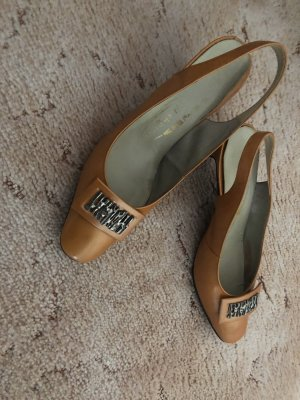 Mary Jane Pumps camel-bronze-colored