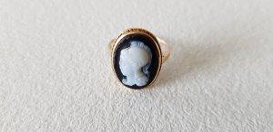 Antiker Achat Kamee Ring 333 Gold Frauenkopf
