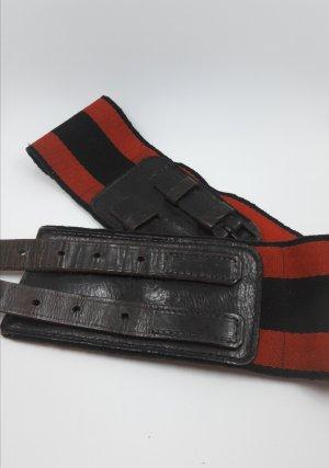 Cinturón pélvico negro-rojo Cuero