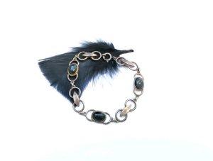 Vintage Silver Bracelet multicolored real silver
