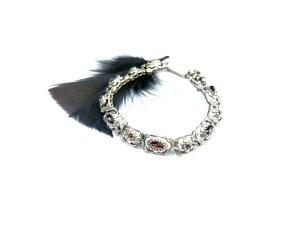 Vintage Silver Bracelet silver-colored-bordeaux real silver