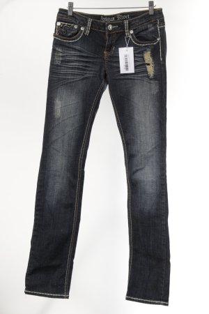 Antiquet Rivet Jeans bootcut bleu foncé style décontracté