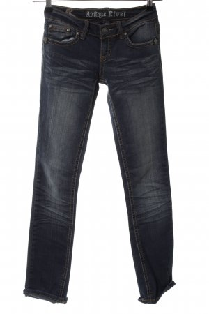 Antiquet Rivet Low Rise Jeans black casual look
