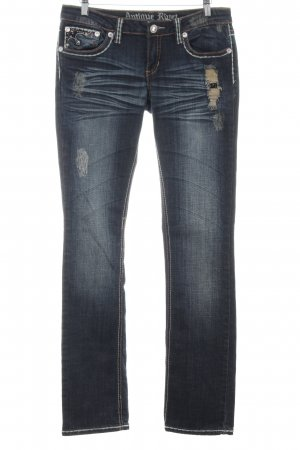 Antiquet Rivet Slim Jeans blue casual look