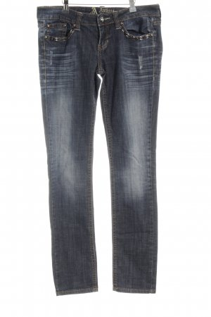 Antiquet Rivet Straight Leg Jeans multicolored '90s style