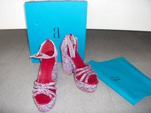 Platform Sandals light blue-red