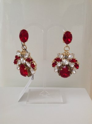 Anton Heunis Statement Earrings brick red-sand brown