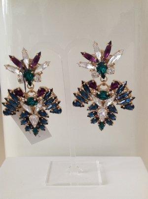 Anton Heunis Boucle d'oreille incrustée de pierres multicolore
