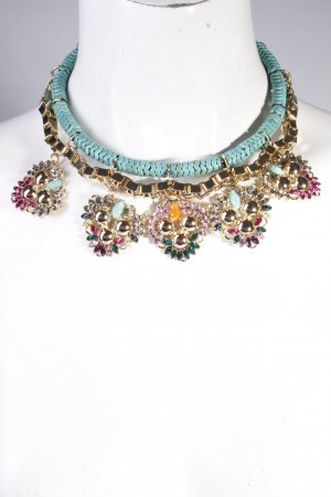 Anton Heunis Statementkette Turquoise Venetian Flower Necklace Multicolour