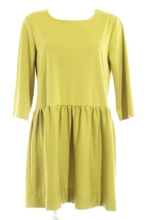 Antonello Serio Robe trapèze jaune citron vert élégant