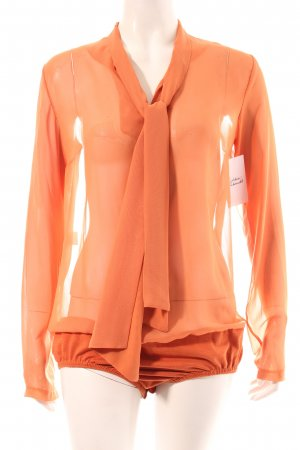 Antonello Serio Blusen-Body orange Transparenz-Optik