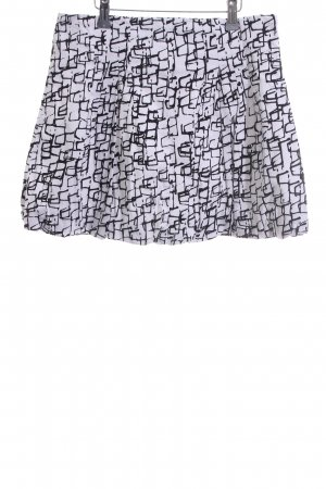 Antonello Serio Miniskirt white-black allover print casual look