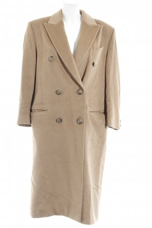 Antonette - Franz Haushofer Heavy Pea Coat camel casual look