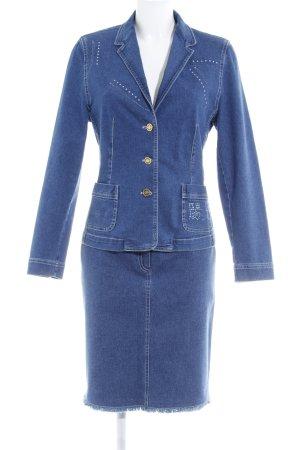 Antonette - Franz Haushofer Ladies' Suit dark blue casual look