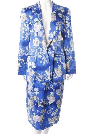 Antonette silk costume Blue