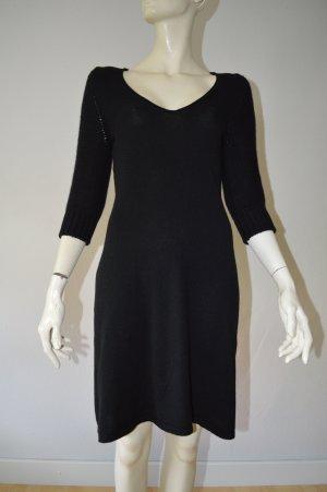 Antonia Zander Robe en maille tricotées noir cachemire