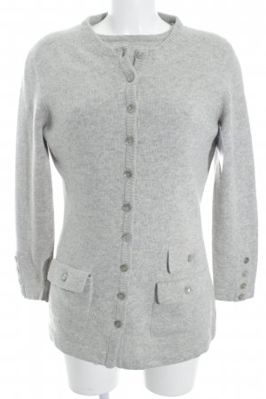 Antonia Zander Knitted Twin Set light grey flecked casual look